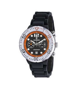 COLORS CHRONOGRAPH BLACK&ORANGE