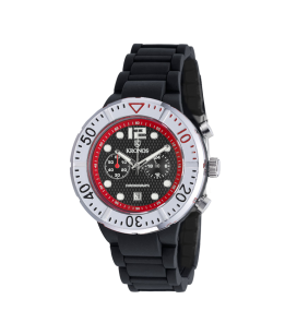 COLORS CHRONOGRAPH BLACK&RED