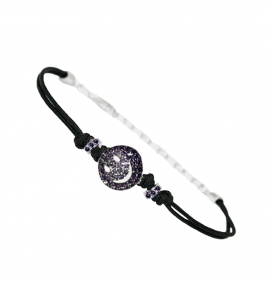PULSERA IVORY HAPPY BLACK