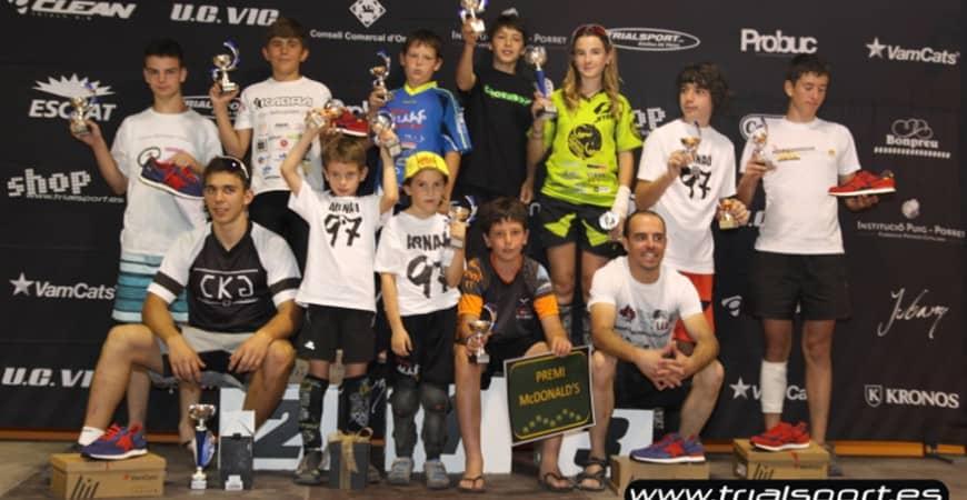 Sergi Llongueras y Carla Caballé ganadores de la Copa Osona de Trial 2015