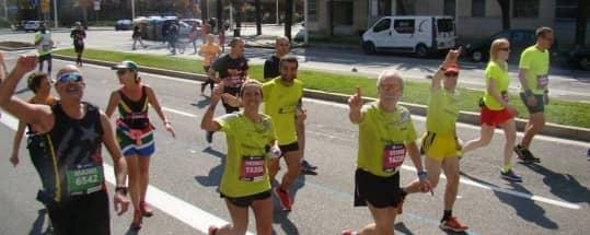 Los atletas de #ITSYOURTIME, en la Marató de Barcelona