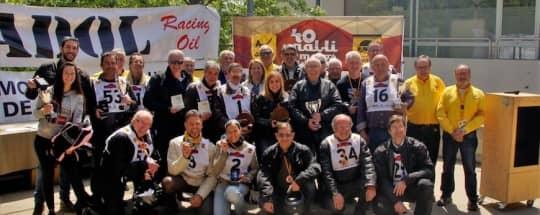 Entrega de trofeos KRONOS en el 40º Rally de Motos Históricas de Terrassa