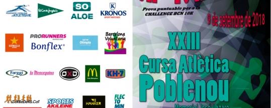 Llega la XXIII Cursa Atlética Festa Major Poble Nou 2018