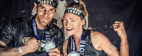 Olga Zin y Xavier Belmonte en la Spartan Race