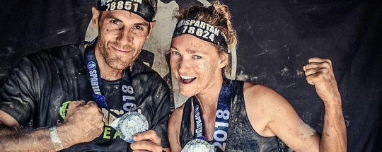 Olga Zin i Xavier Belmonte en la Spartan Race