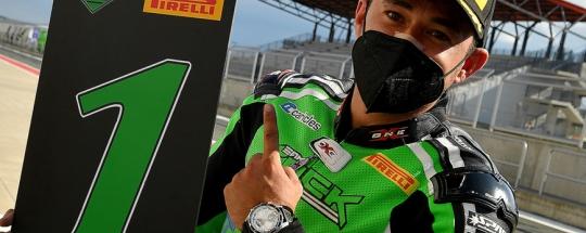 Hugo Moreira gana en el arranque de temporada en ZX10 CUP 2021