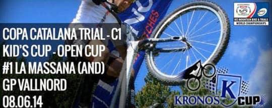 La Copa Catalana de Trial contará de nuevo con el apoyo de KRONOS