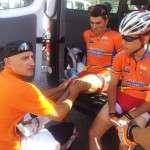 Jordi Solano con Cristian Torres actual Equipo Contador.