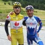 22.Jordi Solano con Joaquín Rodríguez, líder del Katusha, nº 1 del mundo del ciclismo preparando el Tour de Francia en 2012.